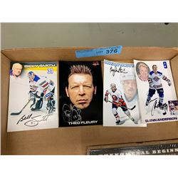 4 X SIGNED PHOTOGRAPHS