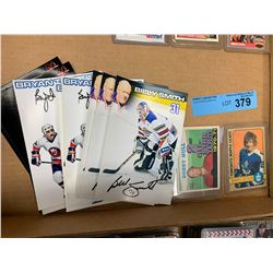 2 X COLLECTIBLE HOCKEY CARDS W/SIGNED PHOTOS