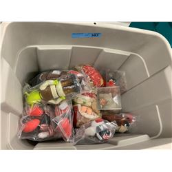 BOX LOT OF MIXED BEANIE BABIES & DOLLS