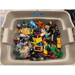 BIN LOT OF MSC TOY CARS & OTHER TOYS