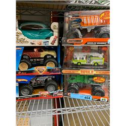 5 X TRUCK TOYS NEW IN BOX W/ TOOLKIT