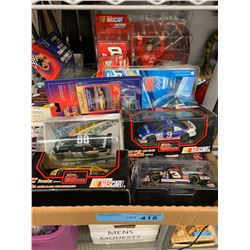 TRAY LOT OF MSC NASCAR TOYS AND MODELS