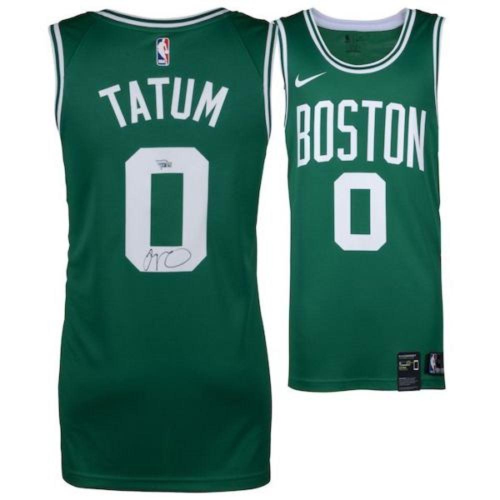sports shoes 949b7 9cc2e Jayson Tatum Signed Nike Celtics Jersey (Fanatics Hologram)