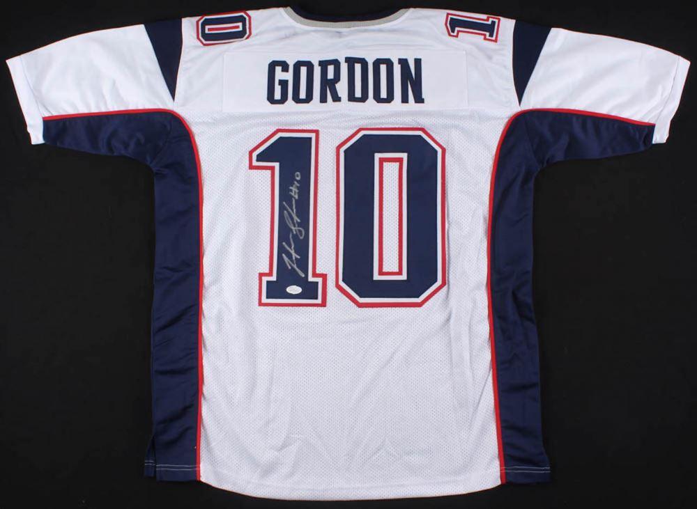 best service 93c56 14296 Josh Gordon Signed New England Patriots Jersey (JSA COA)