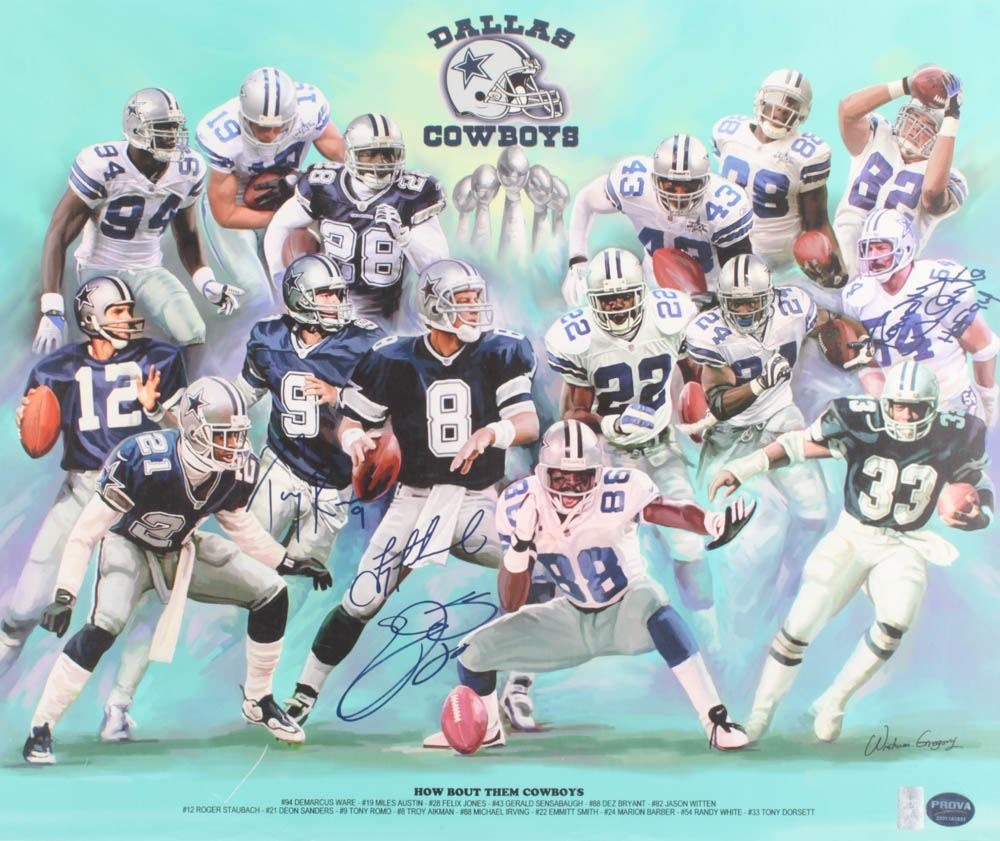f173863c Image 1 : Dallas Cowboys 20x24 Poster Signed By (4) with Randy White,