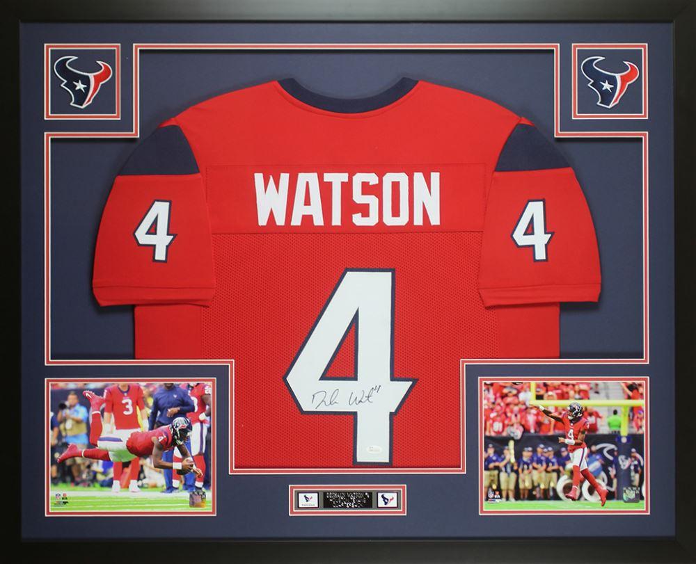 best website cc477 d8cff Deshaun Watson Signed Houston Texans 35x43 Custom ...