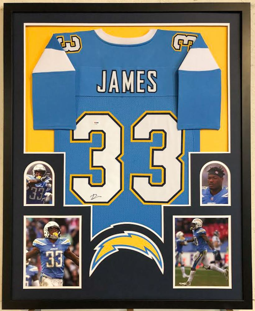 new products e7dc4 724c8 Derwin James Signed Los Angeles Chargers 34x42 Custom ...