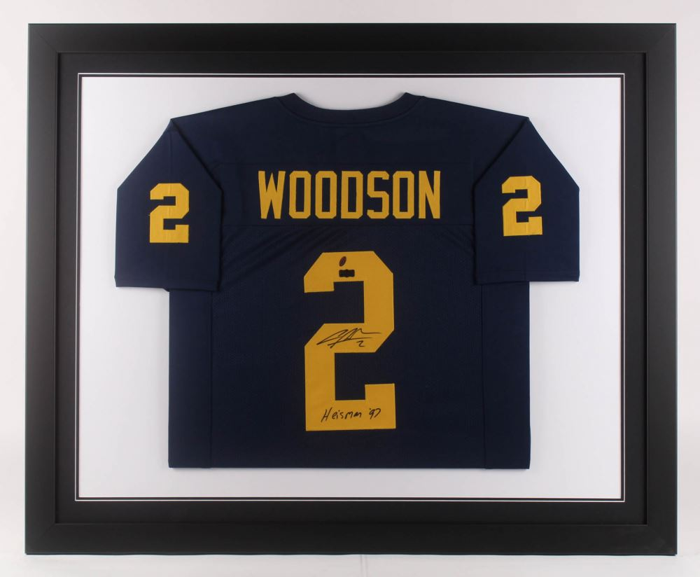 purchase cheap bd655 c23d2 Charles Woodson Signed Michigan Wolverines 35.5x43.5 ...