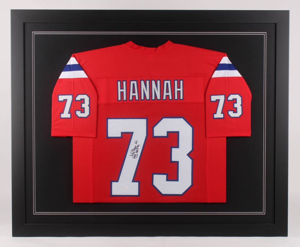 online store a2a57 ed821 John Hannah Signed New England Patriots 35.5x43.5 ...