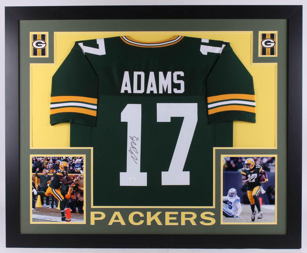 reputable site 6f701 a1c61 Davante Adams Signed Green Bay Packers 35x43 Custom ...