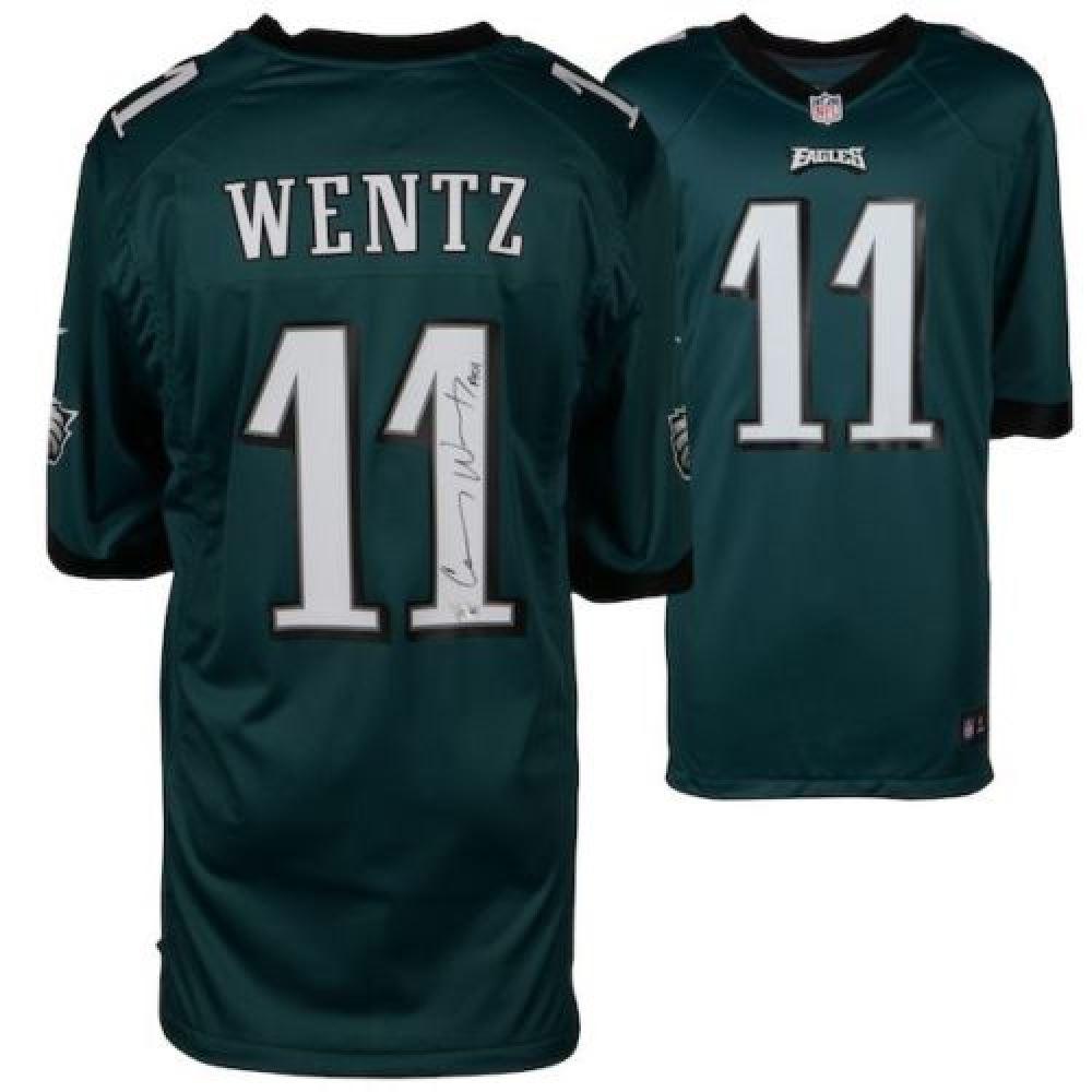 on sale a8015 520d2 Carson Wentz Signed Philadelphia Eagles Jersey Inscribed ...