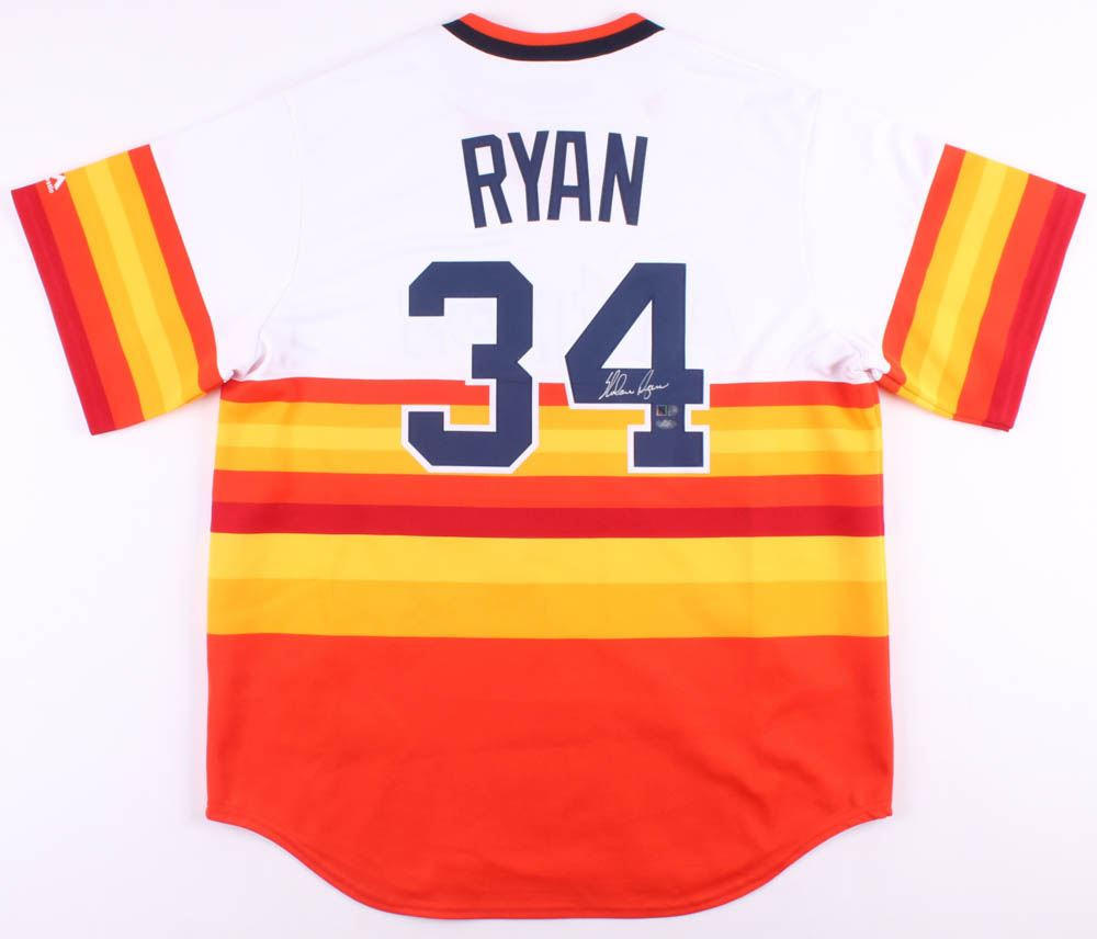 brand new 5e427 37222 Nolan Ryan Signed Houston Astros Jersey (AIV COA Ryan ...