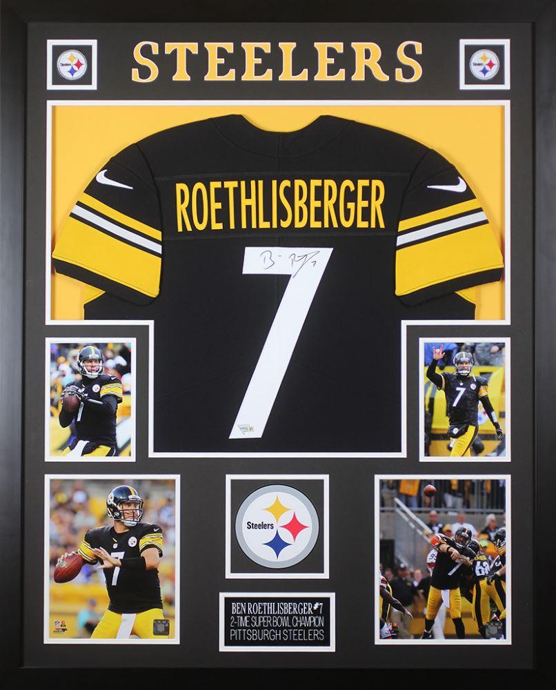 best website 1c325 521c0 Ben Roethlisberger Signed Pittsburgh Steelers 35x43 Custom ...