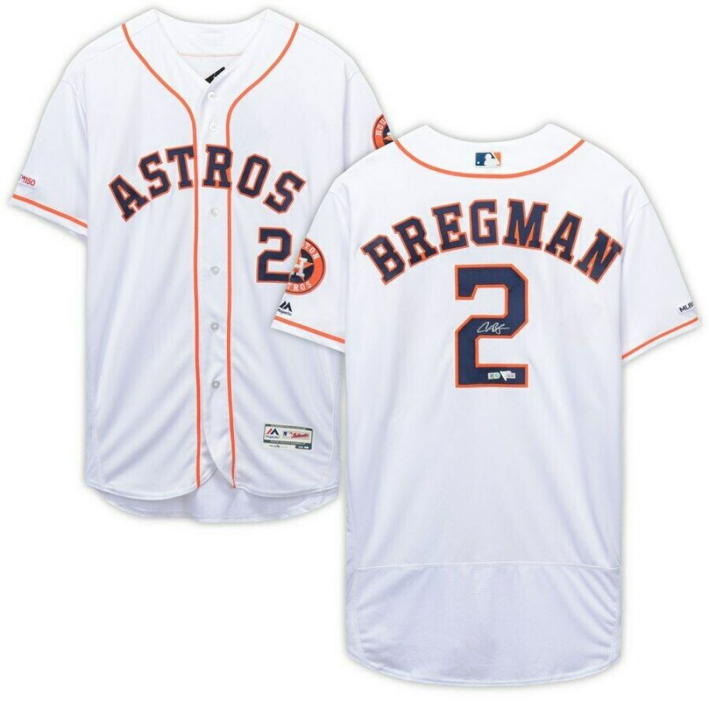 innovative design 74cb9 72a49 Alex Bregman Signed Houston Astros Jersey (Fanatics ...