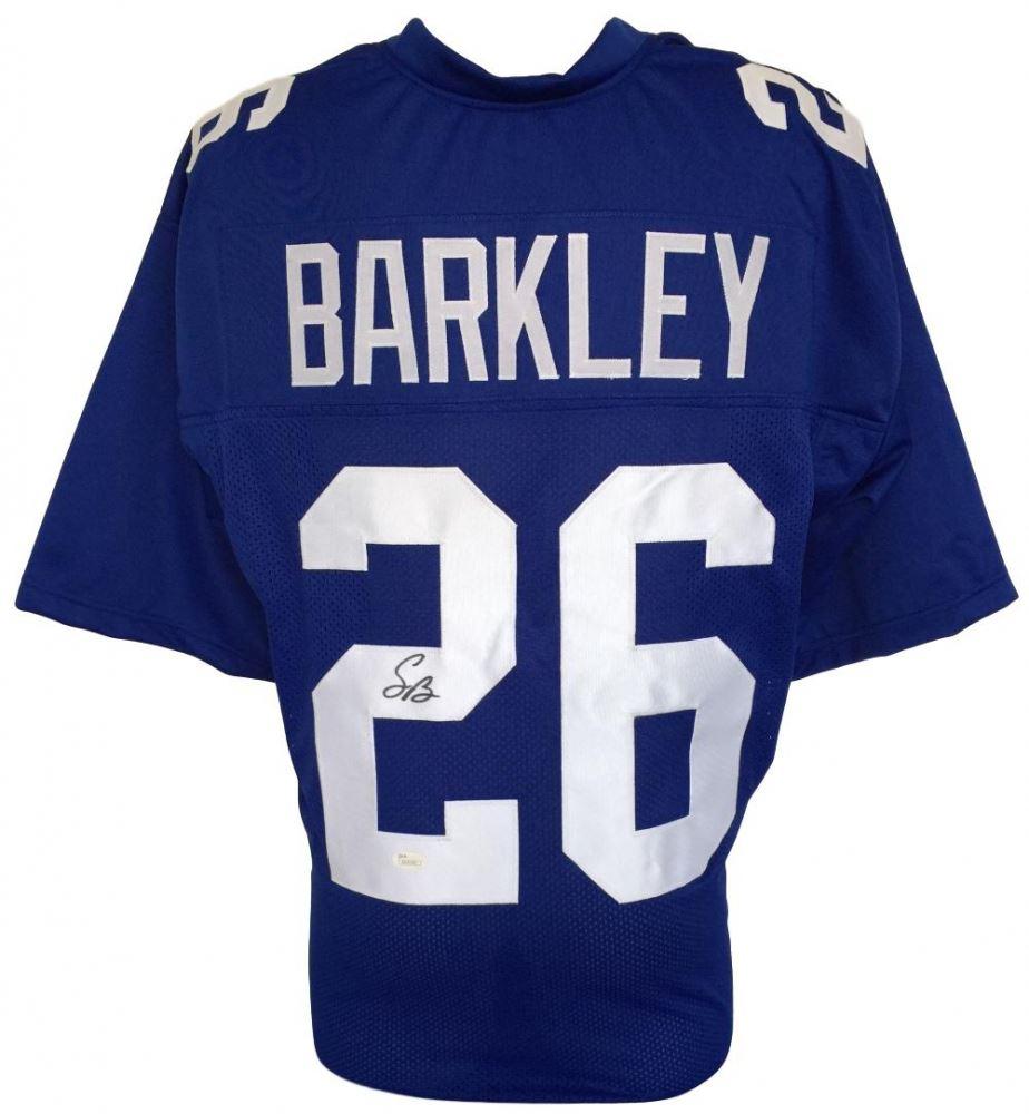 info for f8a5b 27db7 Saquon Barkley Signed New York Giants Jersey (JSA COA)