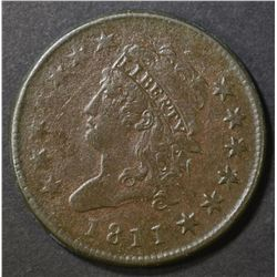 1811 LARGE CENT XF corroded