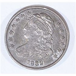 1832 BUST DIME XF, MARKS