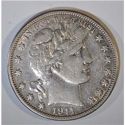 1911 BARBER HALF DOLLAR XF