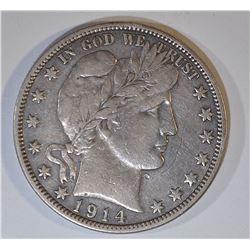 1914-S BARBER HALF DOLLAR XF