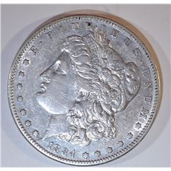 1884-S MORGAN DOLLAR XF/AU
