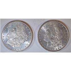 1888-O & 1901-O MORGAN DOLLARS CH BU
