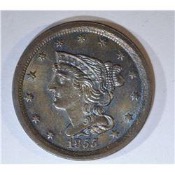 1855 HALF CENT  CH/GEM BU