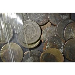16 LARGE CENTS MOSTLY LOW GRADE