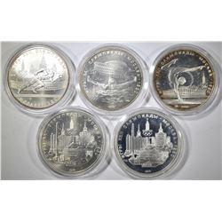 5 RUBLES 1980 OLYMPICS SILVER COINS