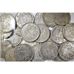 22 CANADIAN 50 CENT COINS