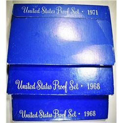 UNITED STATES PROOF SETS:  2 1968 & 1 1971