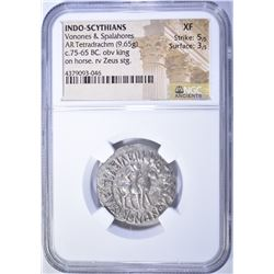 75-65 BC.  INDO-SCYTHIANS  VONONES & SPALAHORES