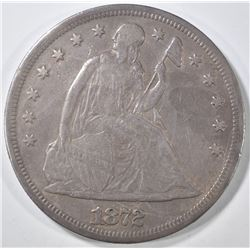 1872 SEATED DOLLAR  XF