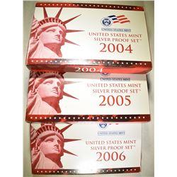 2004. 06 & 06 U.S. SILVER Pf SETS  ORIG BOXES/COA