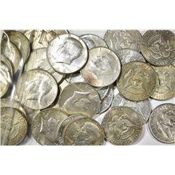 30-CIRC 40% SILVER KENNEDY HALF DOLLARS