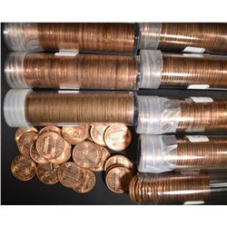 8-ROLLS 1969-S BU LINCOLN CENTS