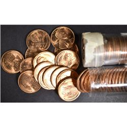 1945 & 1947-D BU LINCOLN CENT ROLLS