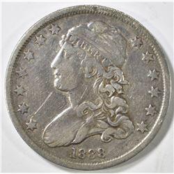 1838 BUST QUARTER VF MARKS