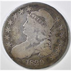 1829 BUST HALF DOLLAR VG