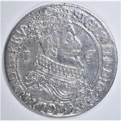 1624 SILVER 1/4 THALER KING SIGISMUND III