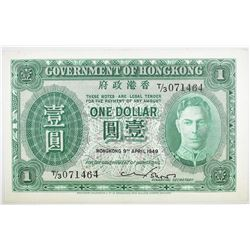 1949 $1 HONG KONG  CHOICE.   SCARCE.