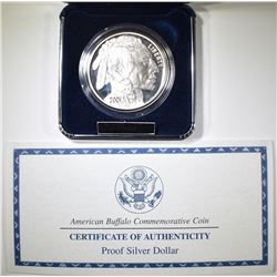2001 PROOF AMERICAN BUFFALO COMMEM SILVER DOLLAR