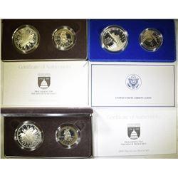 3-U.S PROOF 2-COIN COMMEM SETS