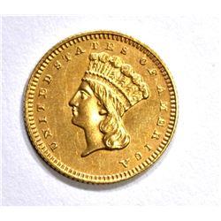 1868 CH BU T-3 $1.00 GOLD