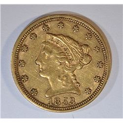 1853 $2.50 GOLD LIBERTY XF
