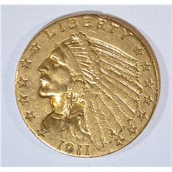 1911 $2.50 GOLD INDIAN EX JEWELRY