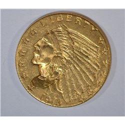 1913 $2.50 GOLD INDIAN BU