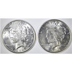 1922-S & 23-S PEACE DOLLARS CH BU