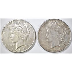 1927-S & 35-S PEACE DOLLARS XF