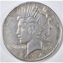 1934-S PEACE DOLLAR VF+