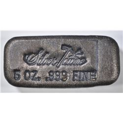 OLD FIVE OUNCE .999 SILVER POURED BAR-SILVERTOWNE